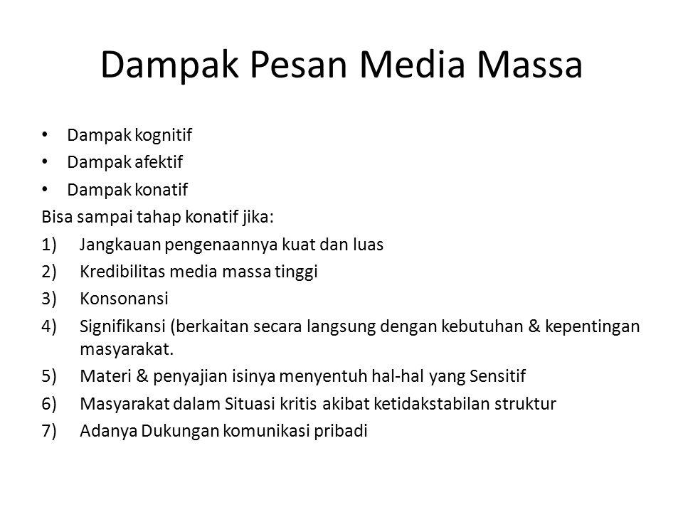 Dampak Pesan Media Massa