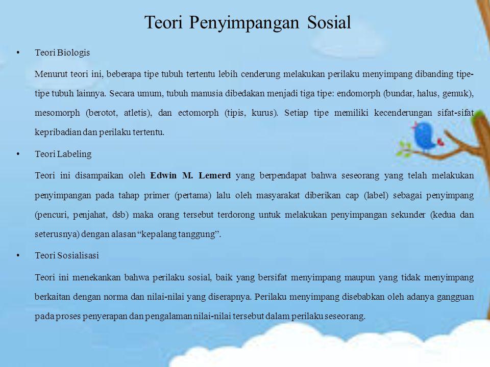 Teori Penyimpangan Sosial
