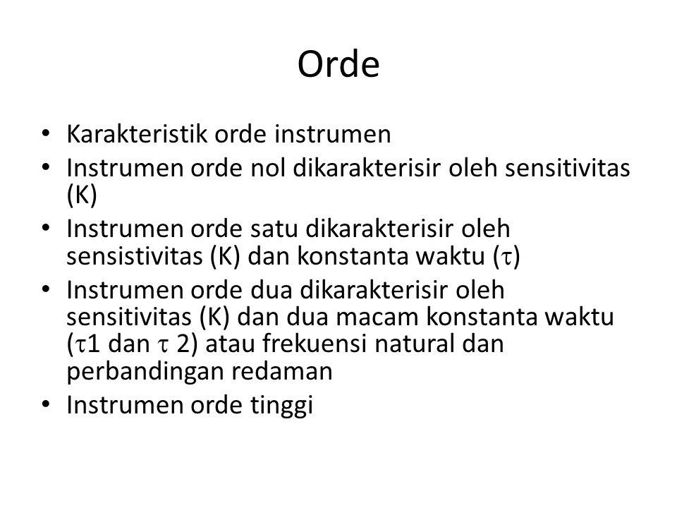 Orde Karakteristik orde instrumen