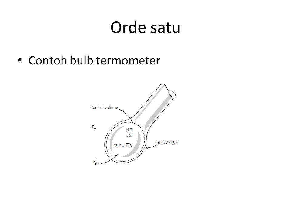 Orde satu Contoh bulb termometer