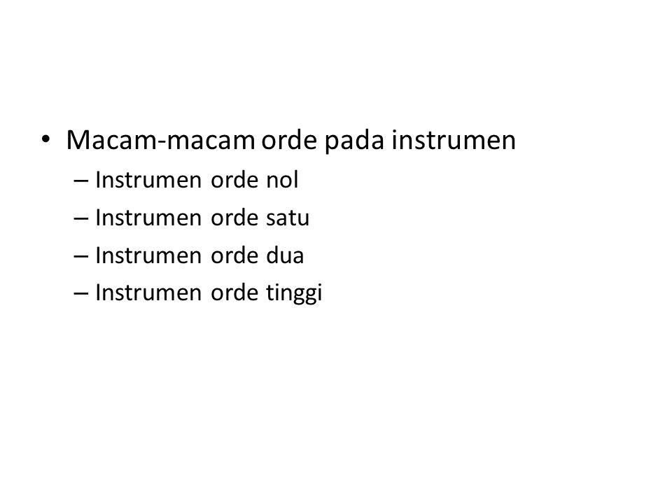 Macam-macam orde pada instrumen