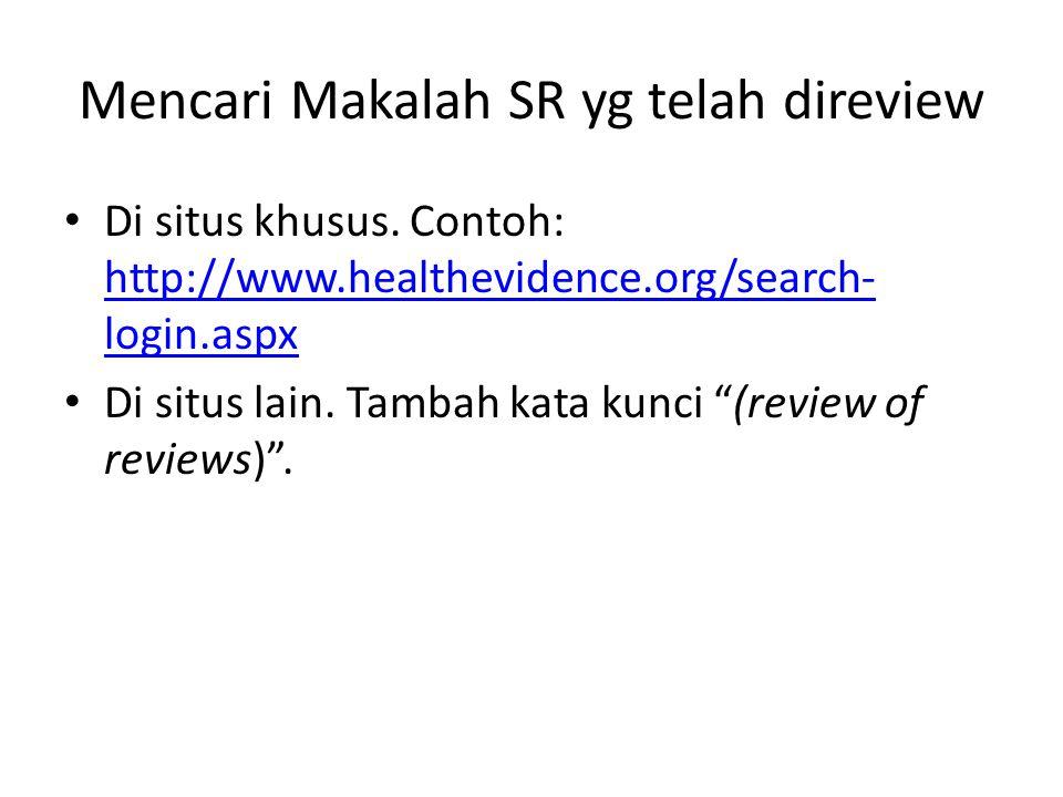 Mencari Makalah SR yg telah direview