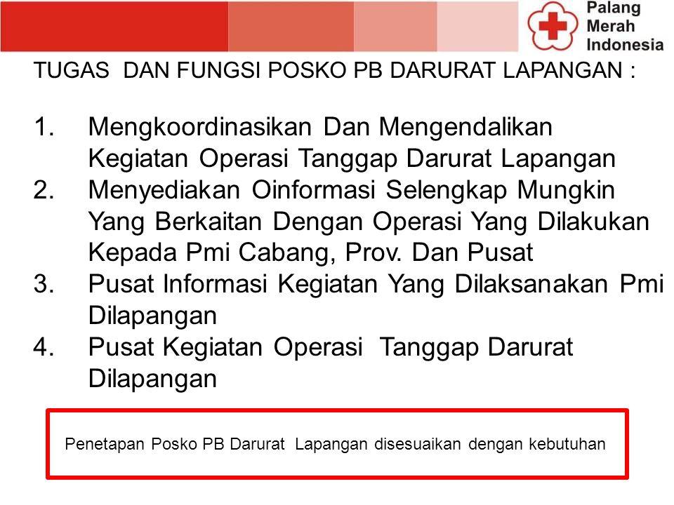 Pusat Informasi Kegiatan Yang Dilaksanakan Pmi Dilapangan
