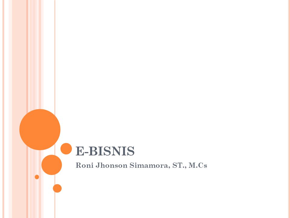 Roni Jhonson Simamora, ST., M.Cs