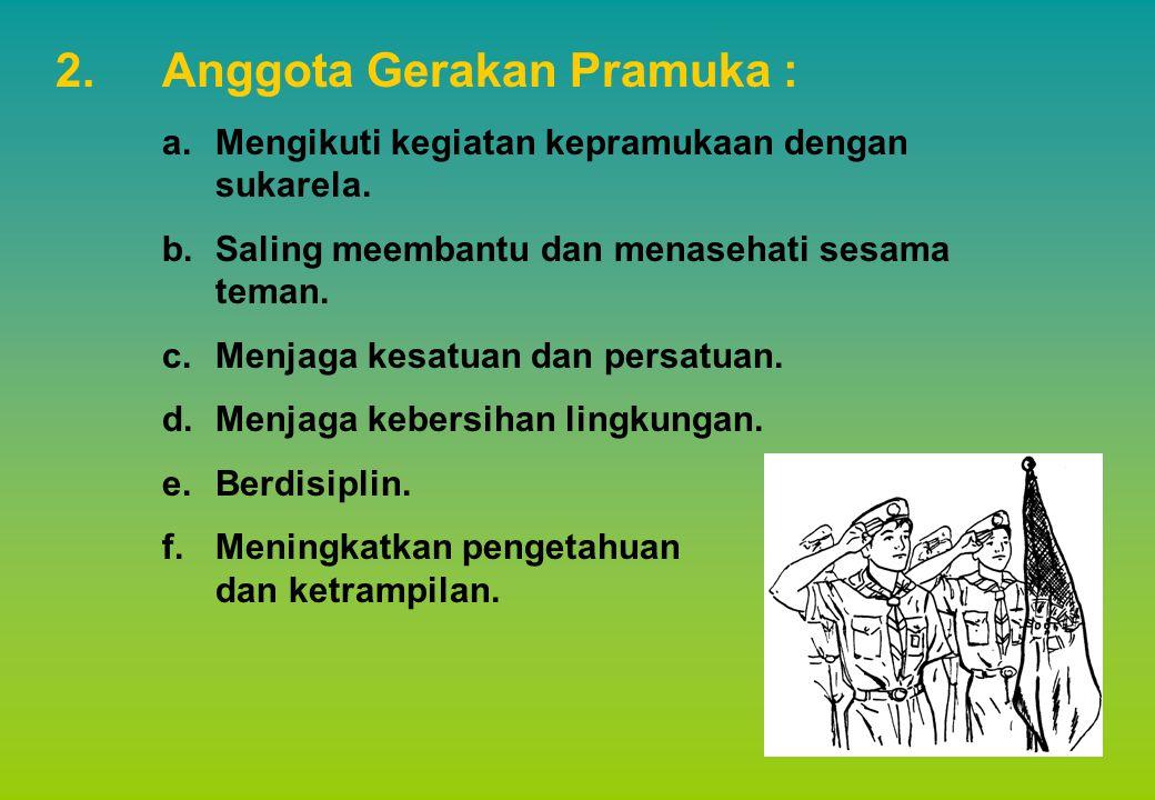 Anggota Gerakan Pramuka :