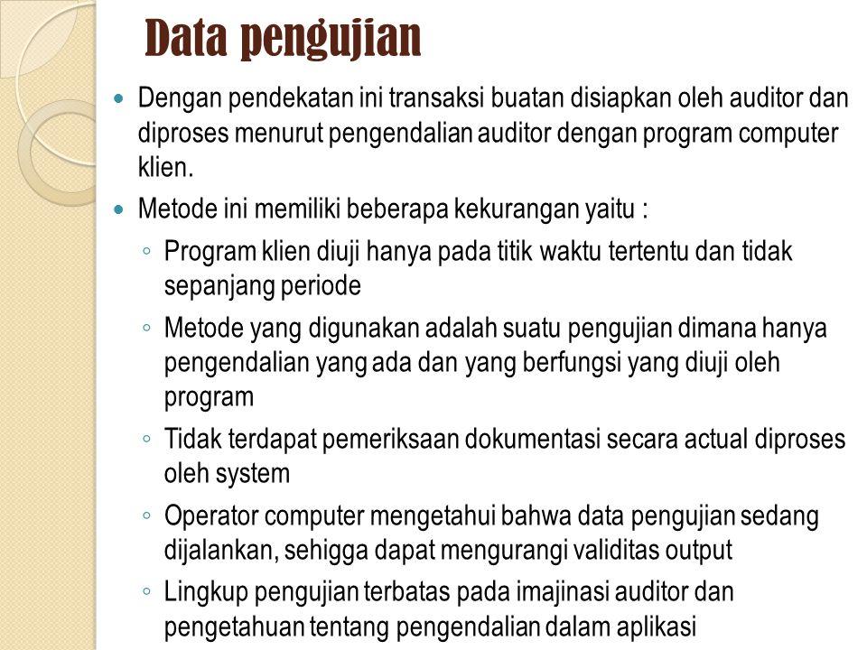 Data pengujian