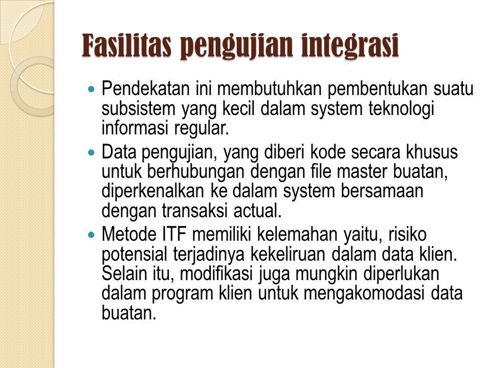 Fasilitas pengujian integrasi