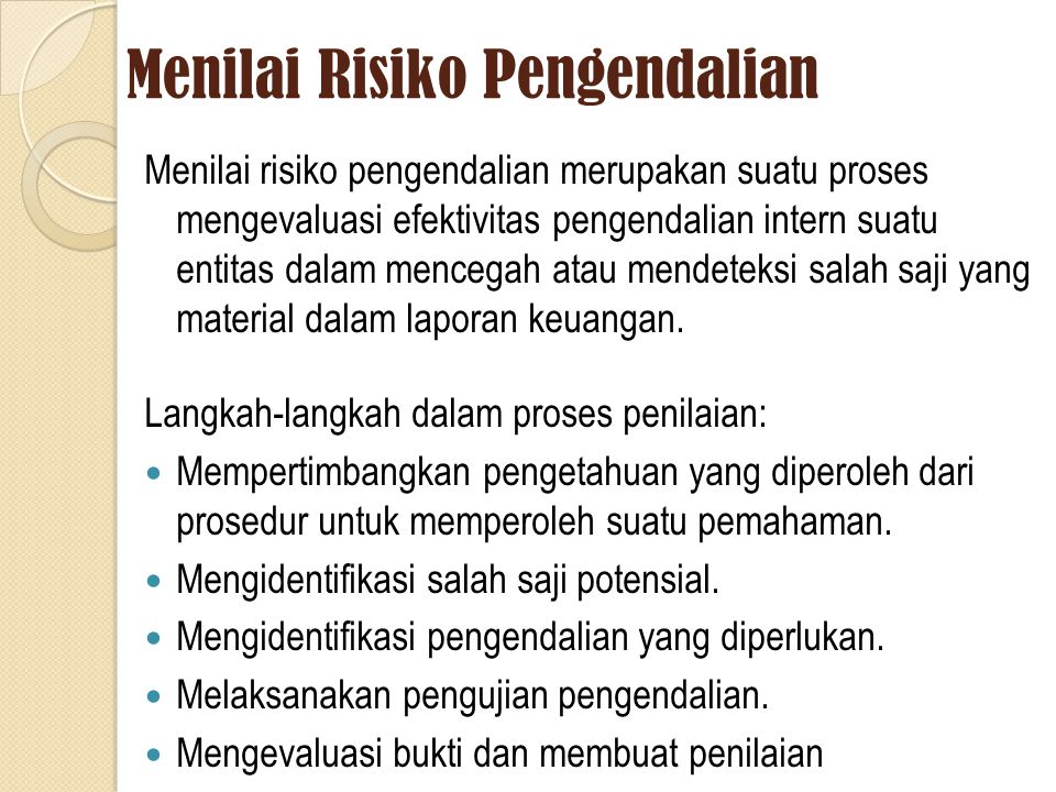 Menilai Risiko Pengendalian
