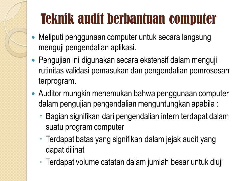 Teknik audit berbantuan computer
