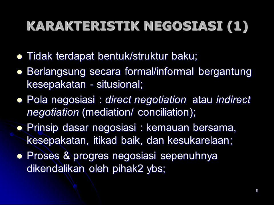 KARAKTERISTIK NEGOSIASI (1)