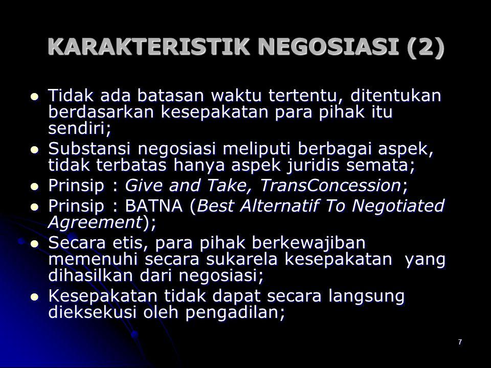 KARAKTERISTIK NEGOSIASI (2)