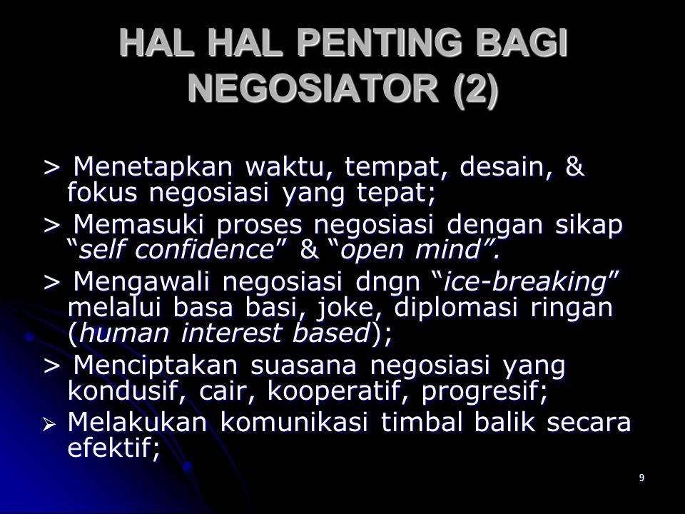 HAL HAL PENTING BAGI NEGOSIATOR (2)