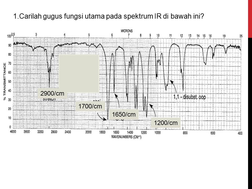 1.Carilah gugus fungsi utama pada spektrum IR di bawah ini