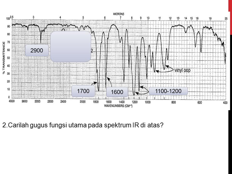 2.Carilah gugus fungsi utama pada spektrum IR di atas