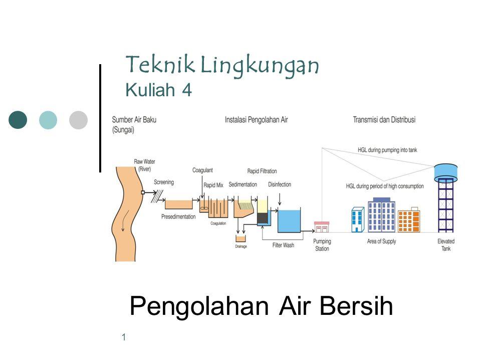 Teknik Lingkungan Kuliah 4 Pengolahan Air Bersih