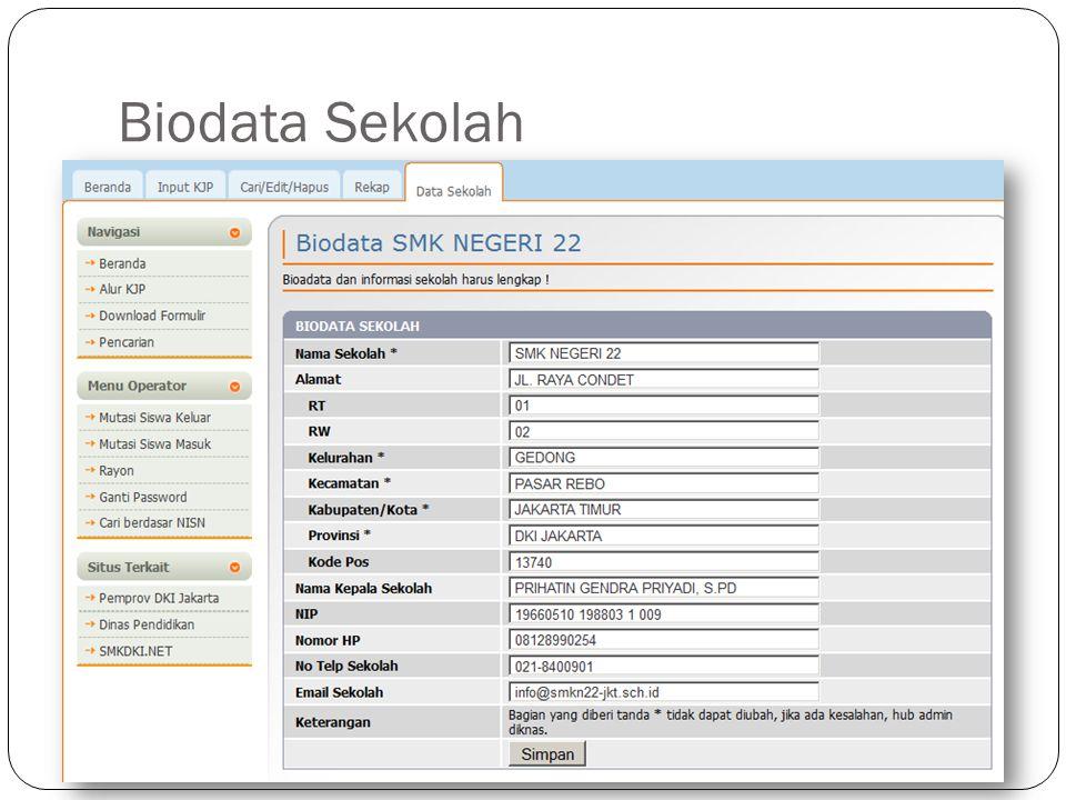 Biodata Sekolah