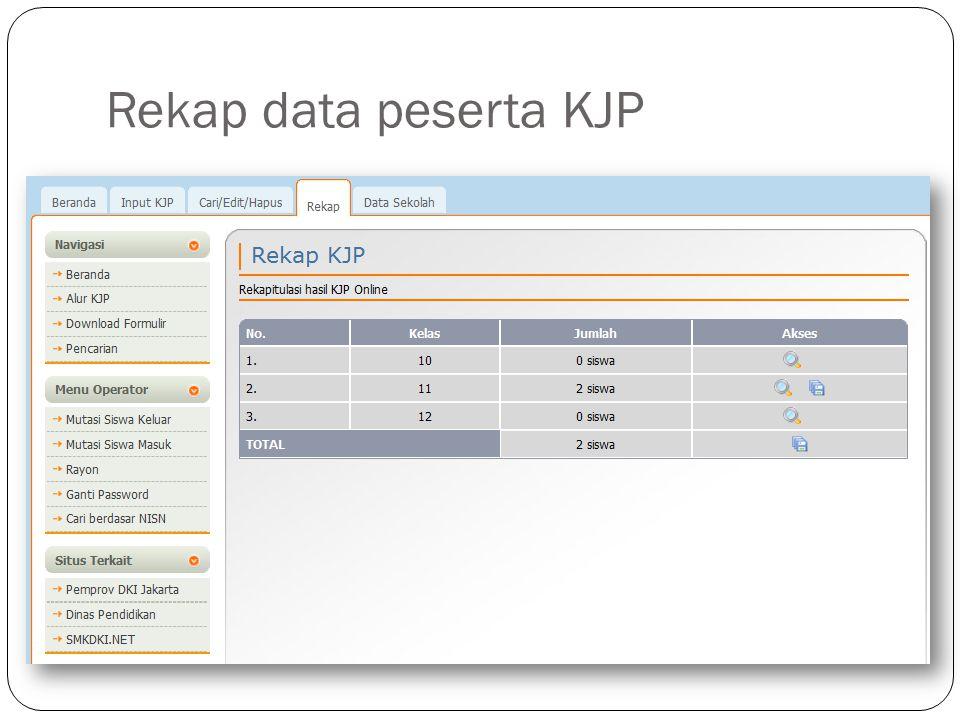 Rekap data peserta KJP