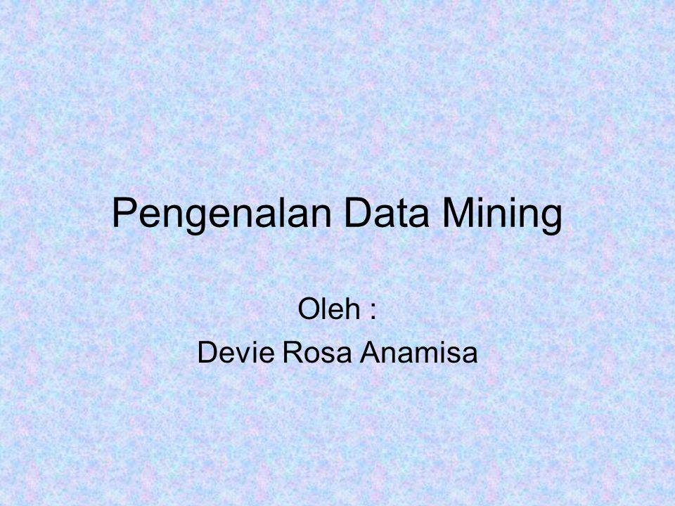Pengenalan Data Mining