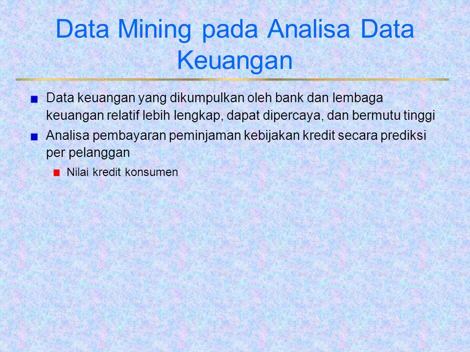Data Mining pada Analisa Data Keuangan