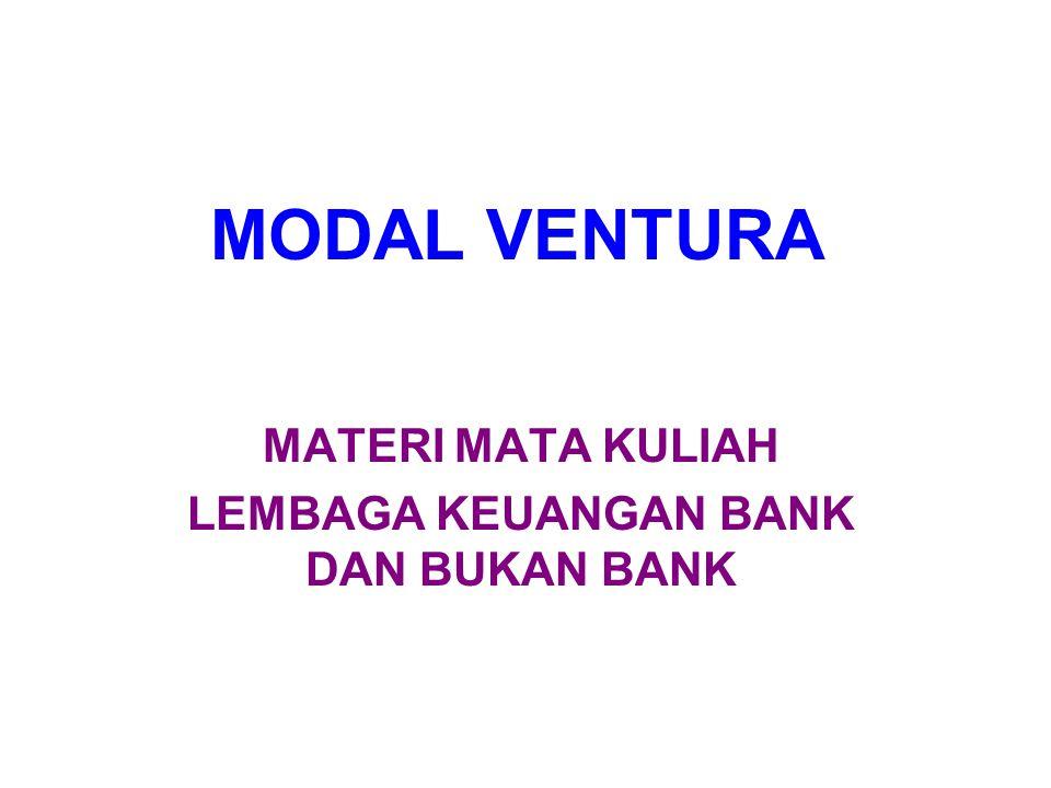 MATERI MATA KULIAH LEMBAGA KEUANGAN BANK DAN BUKAN BANK
