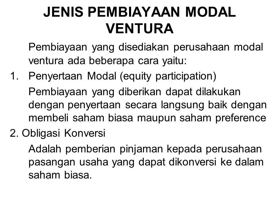 JENIS PEMBIAYAAN MODAL VENTURA