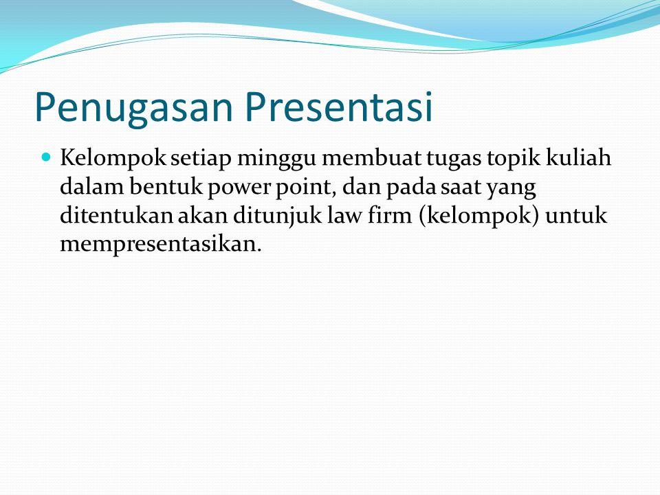 Penugasan Presentasi