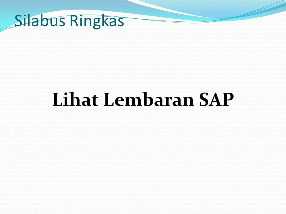 Silabus Ringkas Lihat Lembaran SAP