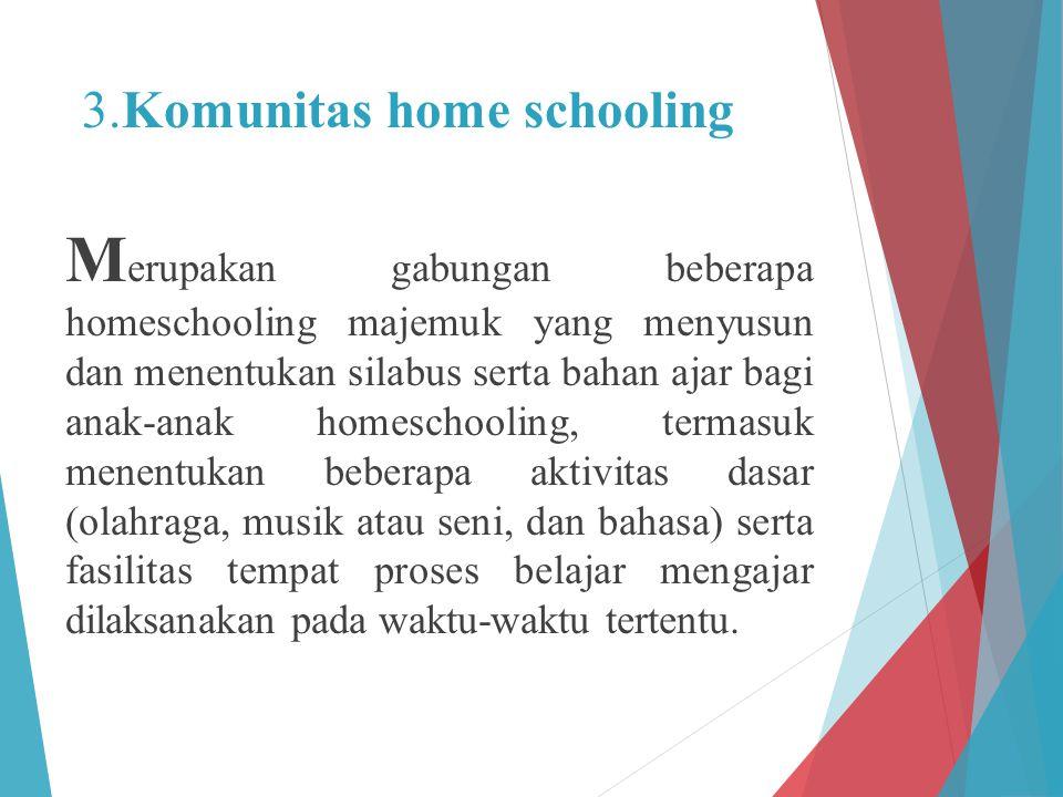 3.Komunitas home schooling
