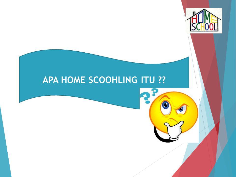 APA HOME SCOOHLING ITU