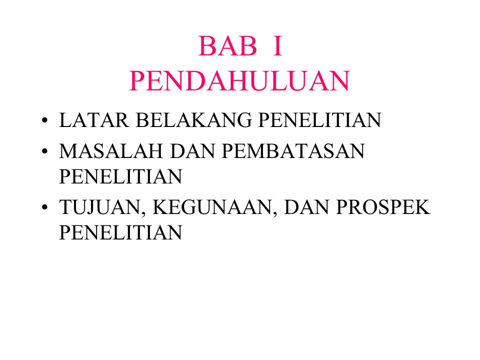 BAB I PENDAHULUAN LATAR BELAKANG PENELITIAN
