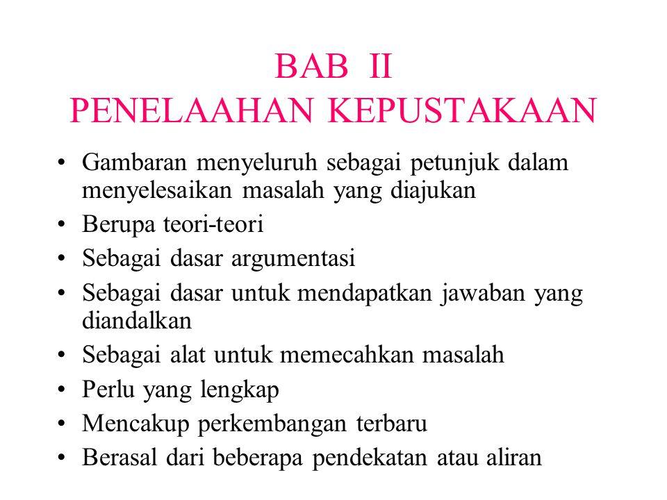 BAB II PENELAAHAN KEPUSTAKAAN