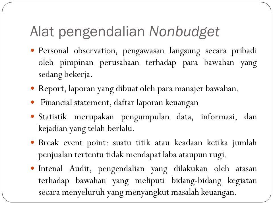 Alat pengendalian Nonbudget