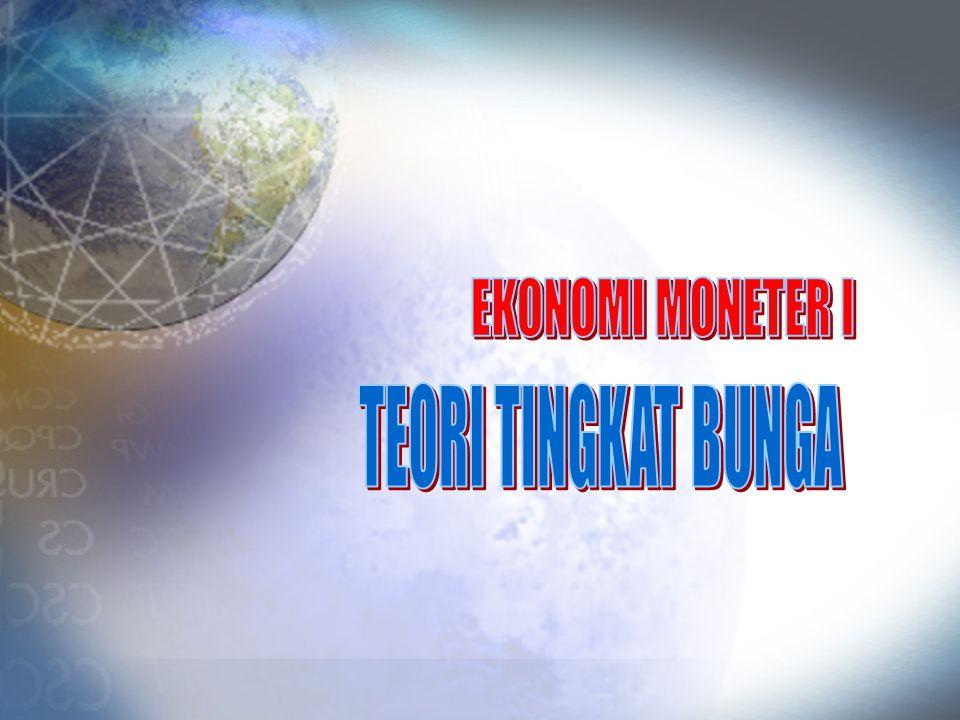 EKONOMI MONETER I TEORI TINGKAT BUNGA