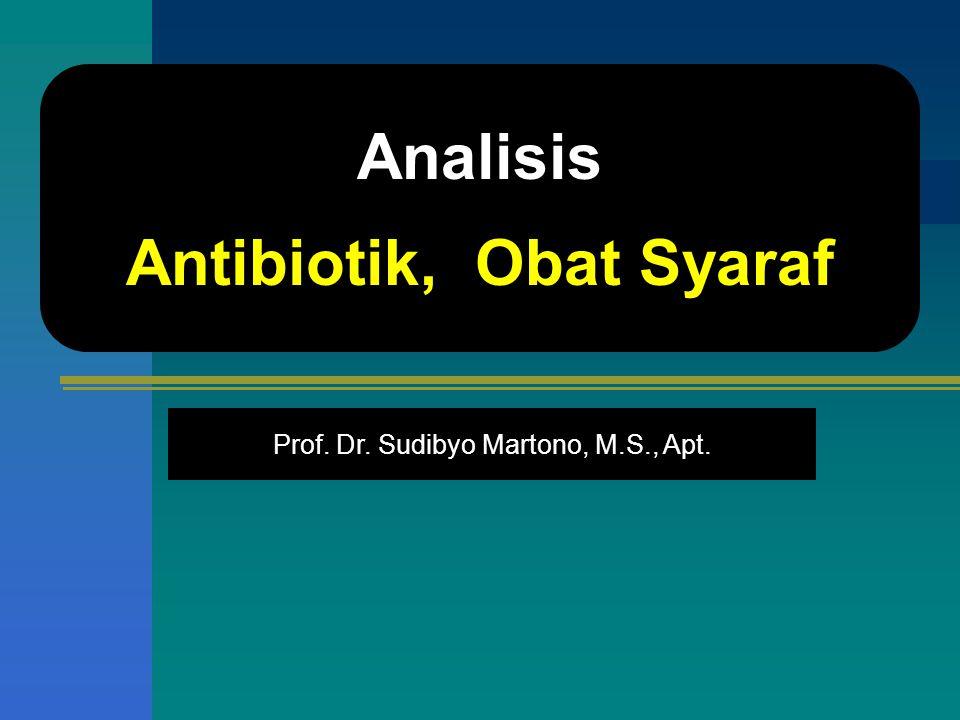 Antibiotik, Obat Syaraf