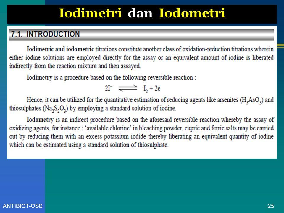 Iodimetri dan Iodometri