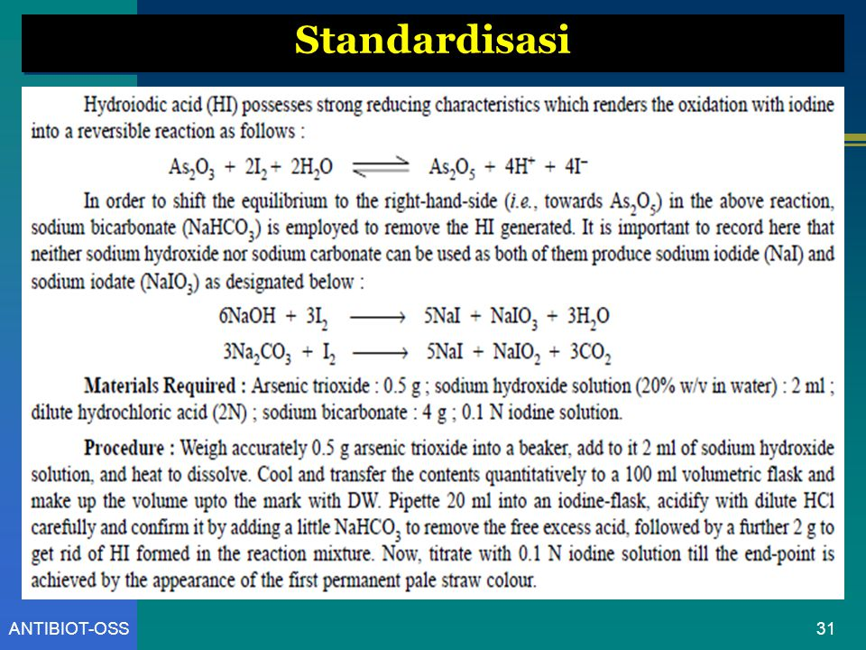 Standardisasi ANTIBIOT-OSS
