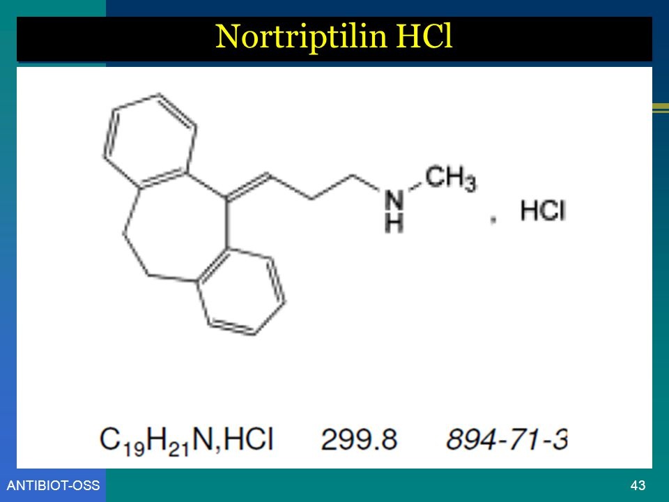 Nortriptilin HCl ANTIBIOT-OSS