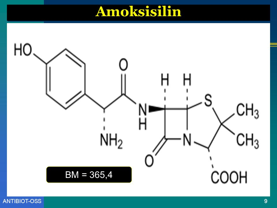 Amoksisilin BM = 365,4 ANTIBIOT-OSS