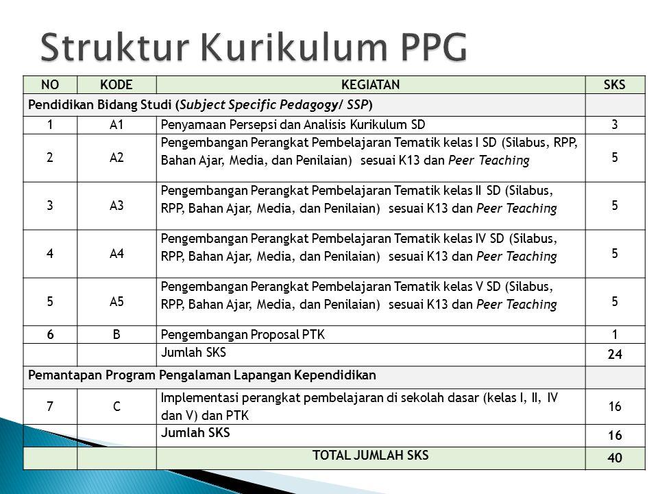 Struktur Kurikulum PPG