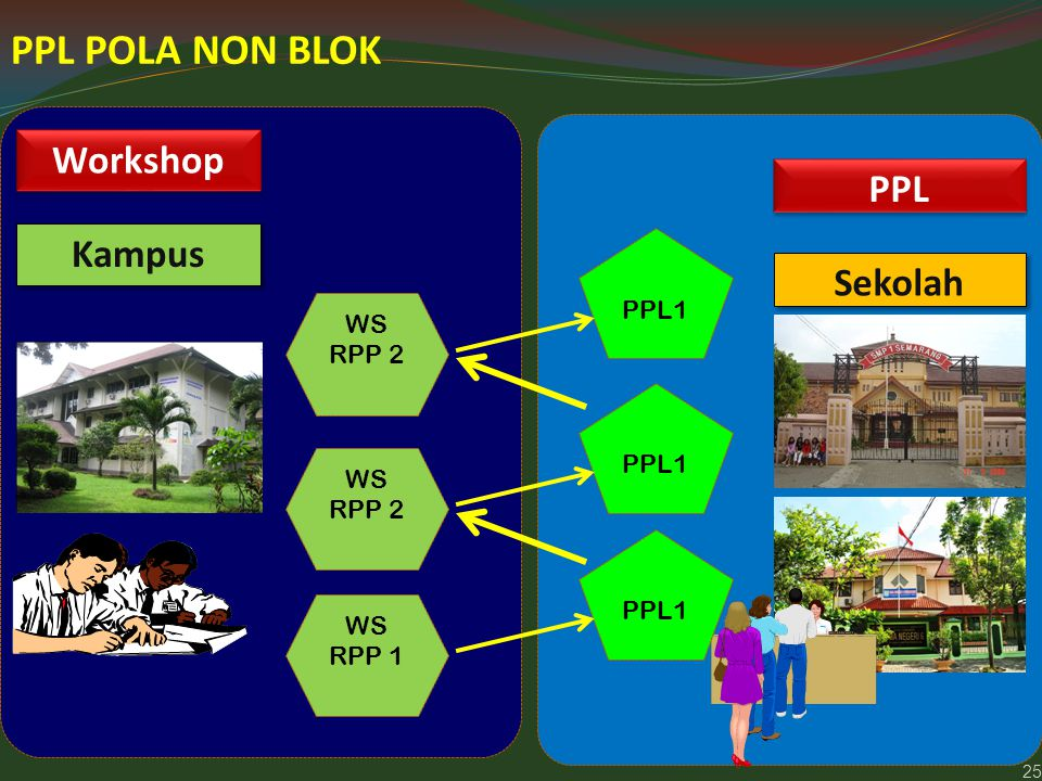 PPL POLA NON BLOK Workshop PPL Kampus Sekolah PPL1 WS RPP 2 PPL1 WS