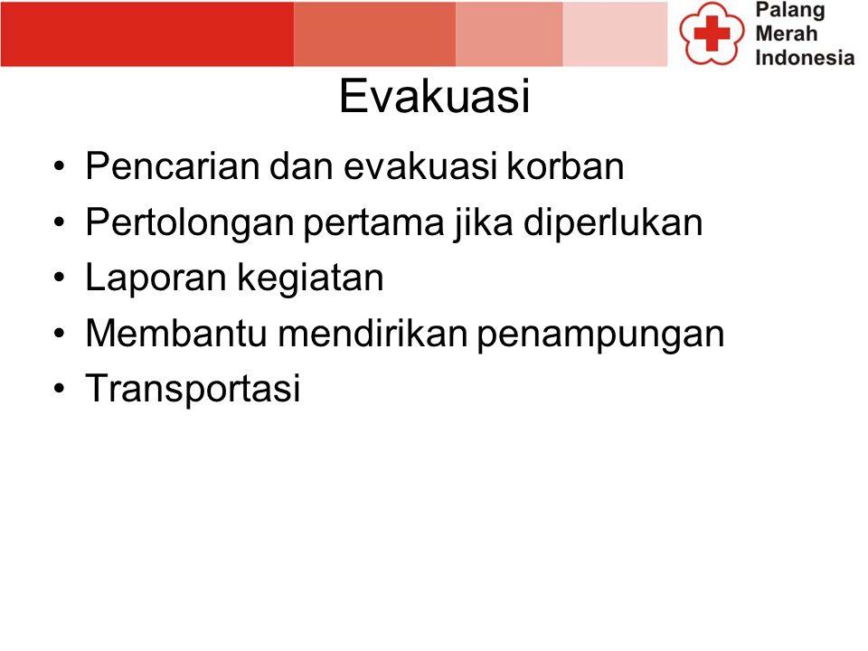 Evakuasi Pencarian dan evakuasi korban