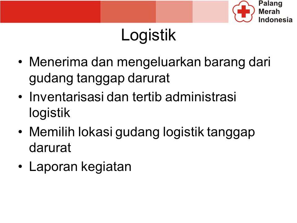 Logistik Menerima dan mengeluarkan barang dari gudang tanggap darurat