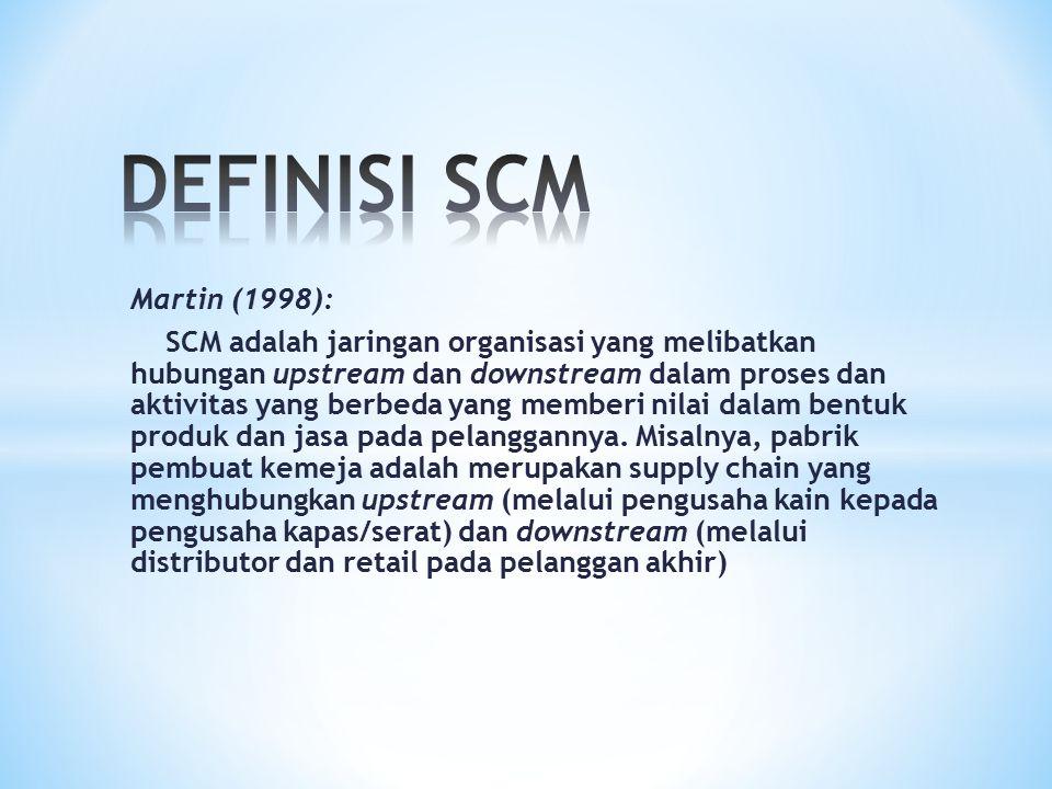DEFINISI SCM Martin (1998):