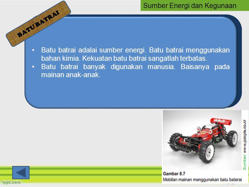 Sumber Energi dan Kegunaan