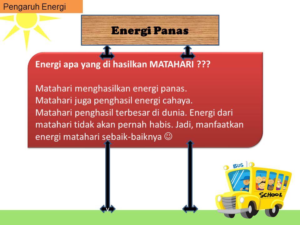 Energi Panas Energi apa yang di hasilkan MATAHARI