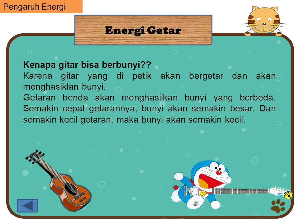 Energi Getar Kenapa gitar bisa berbunyi