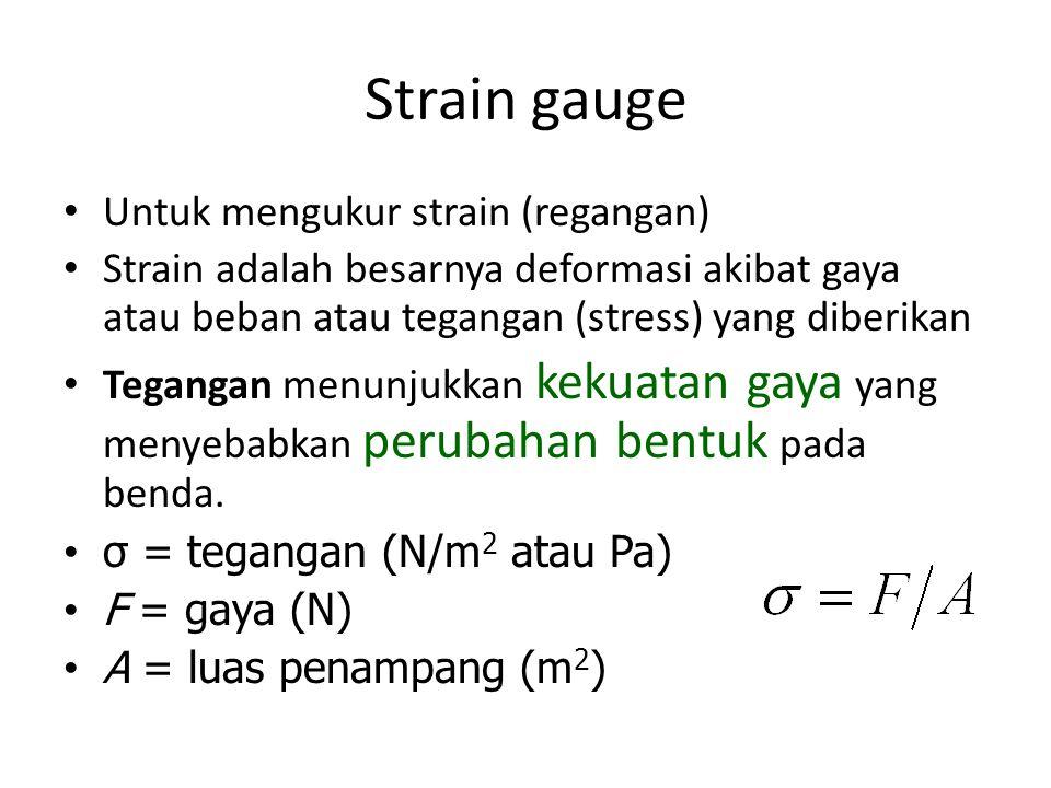 Strain gauge Untuk mengukur strain (regangan)