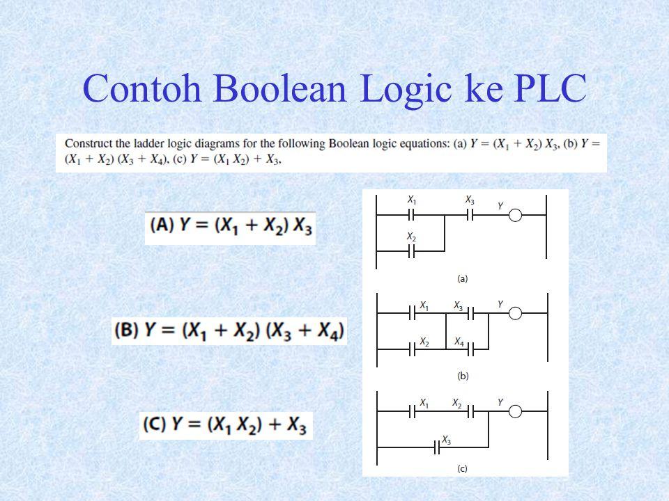 Contoh Boolean Logic ke PLC