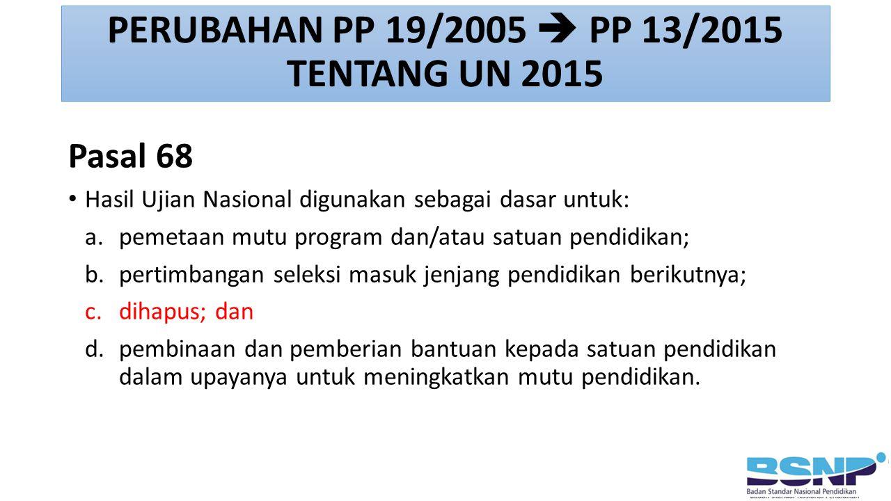 PERUBAHAN PP 19/2005  PP 13/2015 TENTANG UN 2015