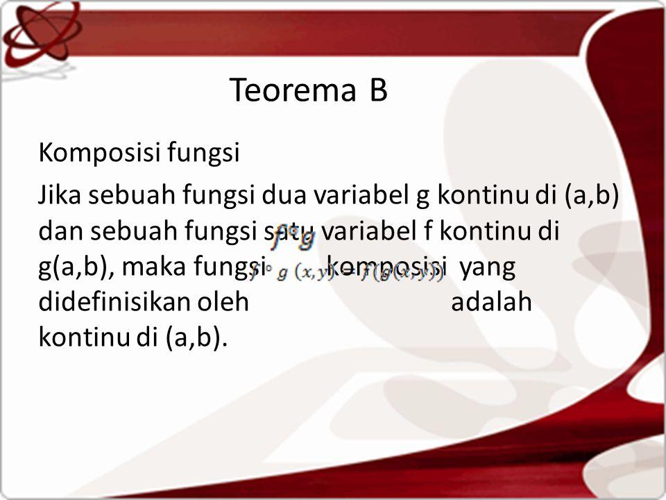 Teorema B Komposisi fungsi